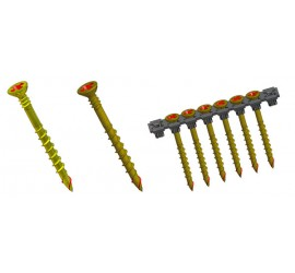 Collated External Wood screws -  for auto feed drivers (suitable for timber)